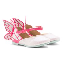Sophia Webster Mini Chaira Mini Pink Glitter Shoes Fluro Pink