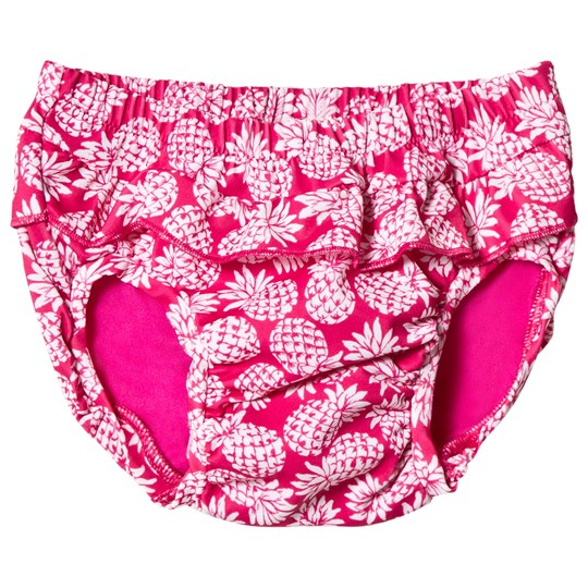 United Colors of Benetton Pineapple Print Frilly Swimming Briefs Fuschia Pink Fuschia Pink