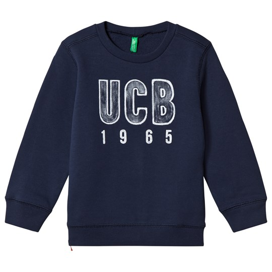 United Colors of Benetton Jersey L/S Logo Sweater Navy Navy