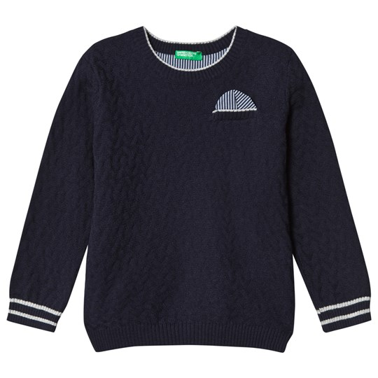 United Colors of Benetton Textured Knit Jumper Navy Navy