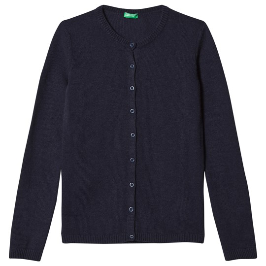 United Colors of Benetton Cashmere Wool Mix L/S Cardigan Navy Navy
