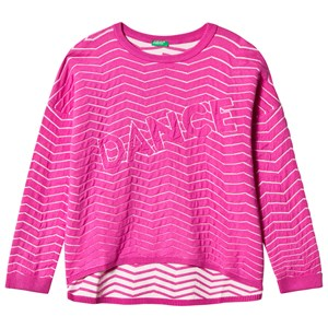 Image of United Colors of Benetton Dance Boxy Fit Sweater in Pink S (6-7 år) (2839671873)