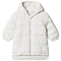 United Colors of Benetton Bunny Print Hooded Puffa Coat Off White Off white
