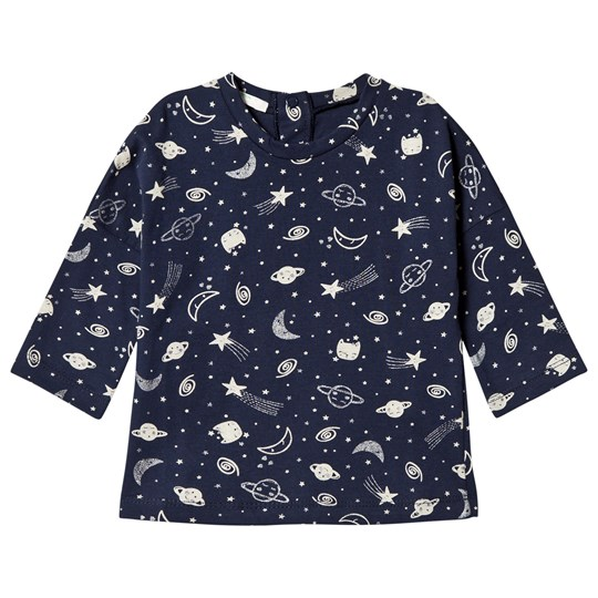 United Colors of Benetton Long Sleeve Space Print Tee Navy Navy
