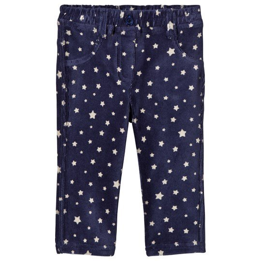 United Colors of Benetton Star Print Soft Cord Jeggings Navy Navy