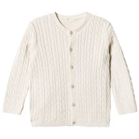 United Colors of Benetton Cotton Cable Knit Cardigan Beige Beige