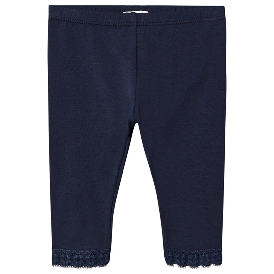 United Colors of Benetton Lace Trim Leggings Navy Navy