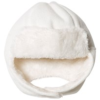 United Colors of Benetton Faux Fur Fleece Tie Neck Hat White White