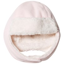 United Colors of Benetton Faux Fur Fleece Tie Neck Hat Light Pink Light Pink