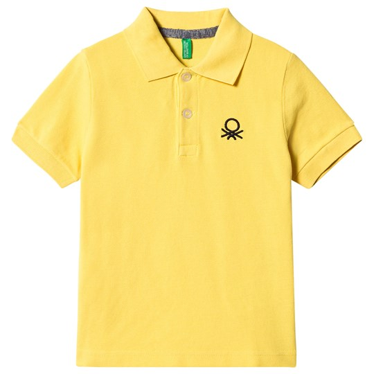 United Colors of Benetton Short Sleeve Polo Yellow Yellow