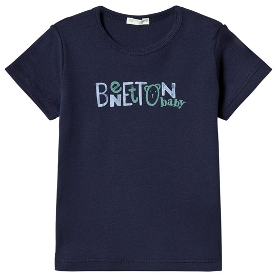 United Colors of Benetton Logo Tee Navy Navy