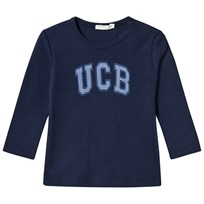 United Colors of Benetton Long Sleeve Logo Tee Navy Navy