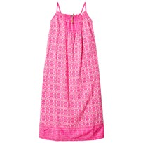 United Colors of Benetton Tile Print Maxi Dress Pink Pink