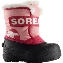 Sorel Pink Snow Commander Velcro Boots 644 CORAL PINK/BRIGHT ROSE