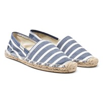 Soludos Navy Original Stripe Espadrilles 412 LIGHT NAVY WHITE