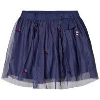 United Colors of Benetton Tulle Skirt With Sequins Stars Navy Marinblå