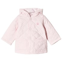 United Colors of Benetton Quilted Barn Hodded Puffa Coat Light Pink Light Pink