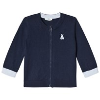 United Colors of Benetton L/S Knit Zip Cardigan Navy Marinblå