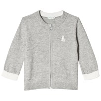 United Colors of Benetton L/S Knit Zip Cardigan Light Grey Light Grey