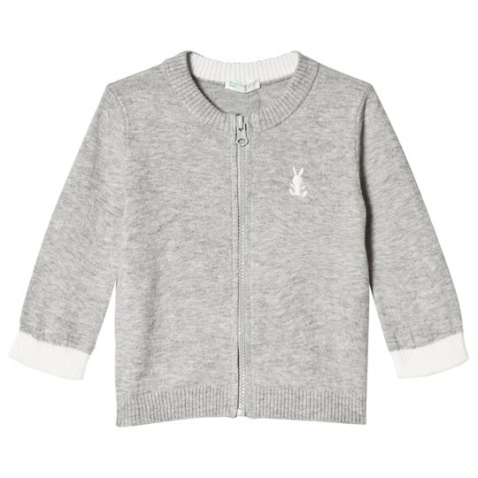 United Colors of Benetton Stickad Kofta Grå Light Grey