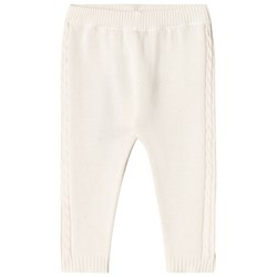 United Colors of Benetton Organic Cotton Knit Trouser With Rib Details Beige