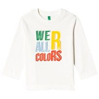United Colors of Benetton We´R All Colors Print L/S T-Shirt White White