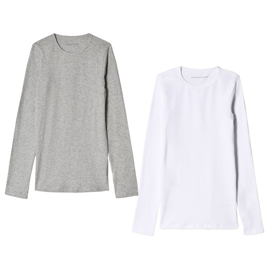 United Colors of Benetton 2 Pack L/S Vest Tops Grey&White GREY&WHITE