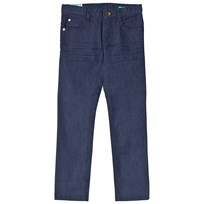 United Colors of Benetton Stretch Skinny 5 Pocket Coloured Denim Trouser Navy Marinblå