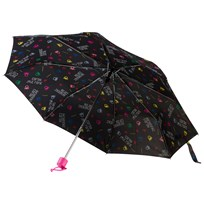 United Colors of Benetton Logo Print Umbrella Black Black