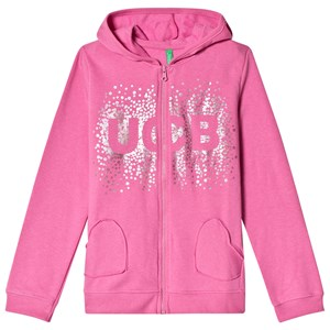 Image of United Colors of Benetton Pink Logo Hoodie 1Y (12-18 mdr) (2839669837)