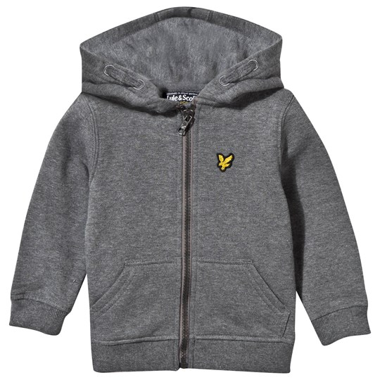Lyle & Scott Grey Marl Zip Through Hoodie MID GREY MARL