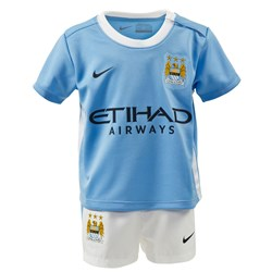 Manchester City FC Official 2015/16 Home Infant Kit