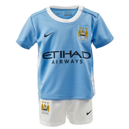 Manchester City FC Official 2015/16 Home Infant Kit FIELD BLUE/FOOTBALL WHITE/OBSIDIAN