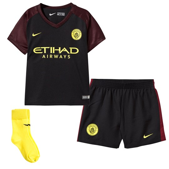 Manchester City FC Infants Manchester City FC Away Kit BLACK/TEAM RED/OPTI YELLOW