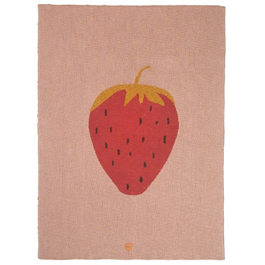 ferm LIVING Strawberry Blanket Multi