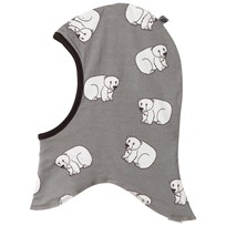 Småfolk Grey Polar Bear Print Balaclava