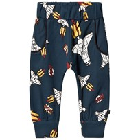 Småfolk Navy Sweatpants With Spaceship Print 711