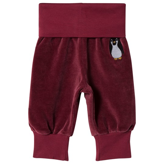 Småfolk Red Baby Sweatpants with Penguin