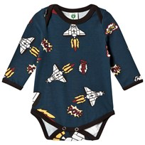 Småfolk Navy Rocket Print Body