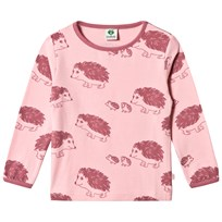 Småfolk Pink Hedgehog Printed Long Sleeve Tee 509