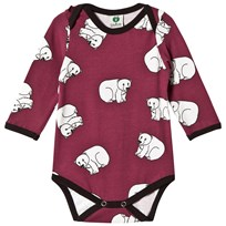 Småfolk Red Printed Bear Body