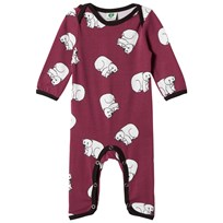 Småfolk Red Printed Bear Babygrow