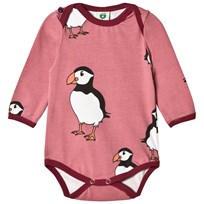 Småfolk Pink Penguin Print Body