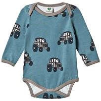 Småfolk Blue Tractor Print Body 709