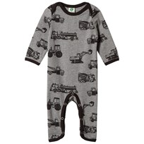 Småfolk Grey Vehicle Print Babygrow 230