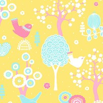 Majvillan Cherry Valley Wallpaper Yellow Yellow