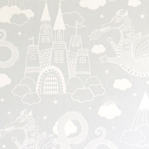 Image of Majvillan Dragon Sky Wallpaper Grey (3056116277)