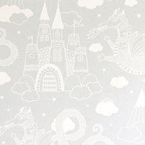 Majvillan Dragon Sky Wallpaper Grey Black