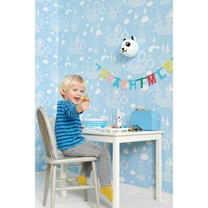 Image of Majvillan Dragon Sky Wallpaper Light Blue (2844044869)