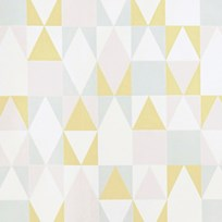 Majvillan Alice Wallpaper Pink/Yellow Multi